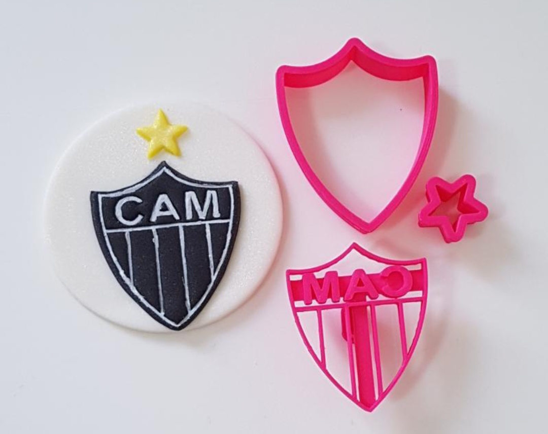 Cortador Marcador Escudo Clube Atletico Mineiro Cam 5cm Cortadores Da Lari